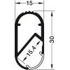 Garderobni profil za LED trake - 833.72.790